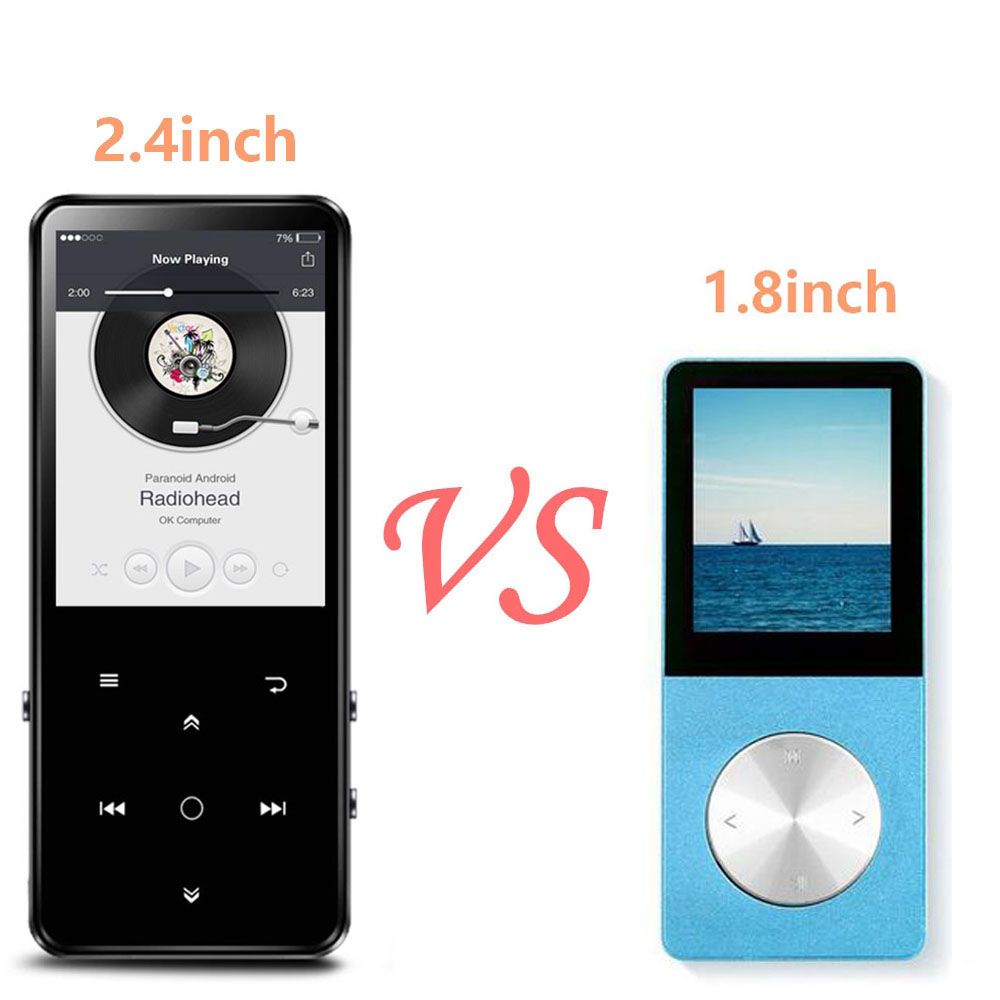 Bluetooth 4.0 MP3 Music Player with Speaker 16GB Touch Key 2.4 Inch TFT Color Screen, FM/ Voice Recorder Lossless Sound Player