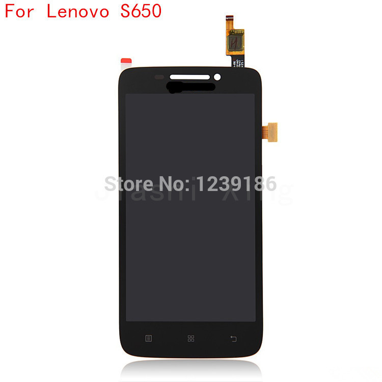 S650 LCD Display+Touch Screen Panel Digitizer Accessories For Lenovo S650 Smarphone Free Shipping+Track Number Black&White