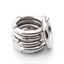 AEQUEEN 6 sztuk Metal DIY spinka 25mm spinka hak Mini koło dla brelok brelok torba akcesoria części srebrny tanie tanio 6pcs Snap Clip Hook SKU422259 Silver