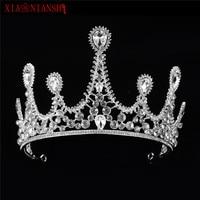 XIAONIANSHI Bridal Rhinestone Crystal Hair Decoration Tiara Wedding Crown Handmade Baroque Luxury Crown Hair Ornaments For Women