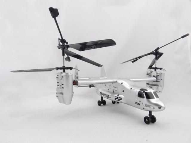 RC Helicóptero V22 Osprey Aviões de Transporte EUA Força Aérea 2.4G 4 Canais Helicóptero de Controle Remoto RTF Modelo de Brinquedo Eletrônico