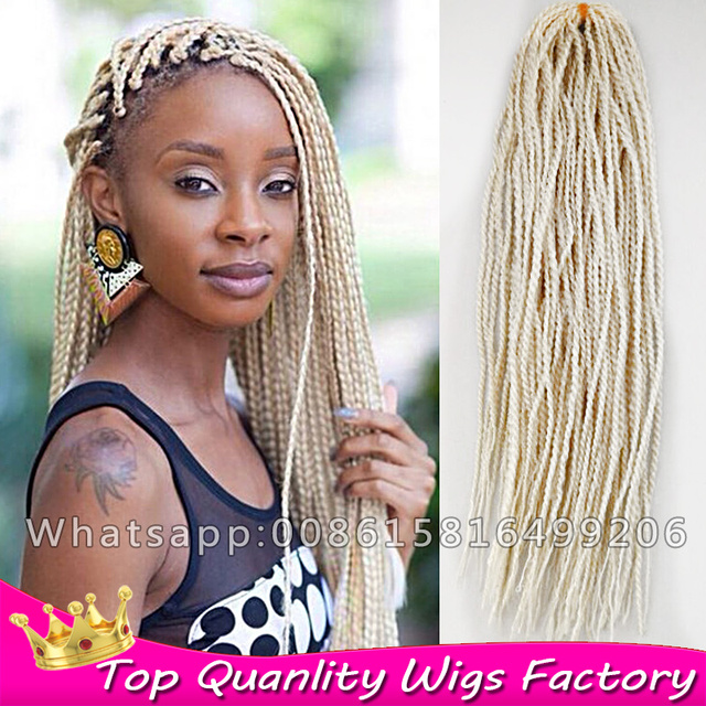 Kanekalon Senegalese Twist 613 Blonde Hair Crochet Hair Extensions