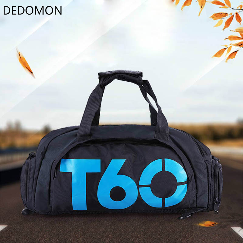 Waterproof Sport  Gym Bag Men Women Fitness Outdoor Separate Space For Shoes pouch rucksack Hide Backpack Shoulder Handbag T60(China)