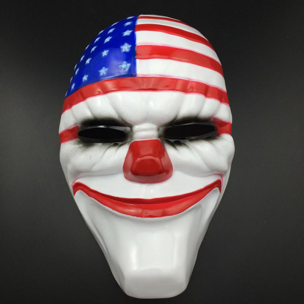2016 PVC Scary Clown Mask Payday 2 Halloween Mask For Antifaz Party Mascara Newest image