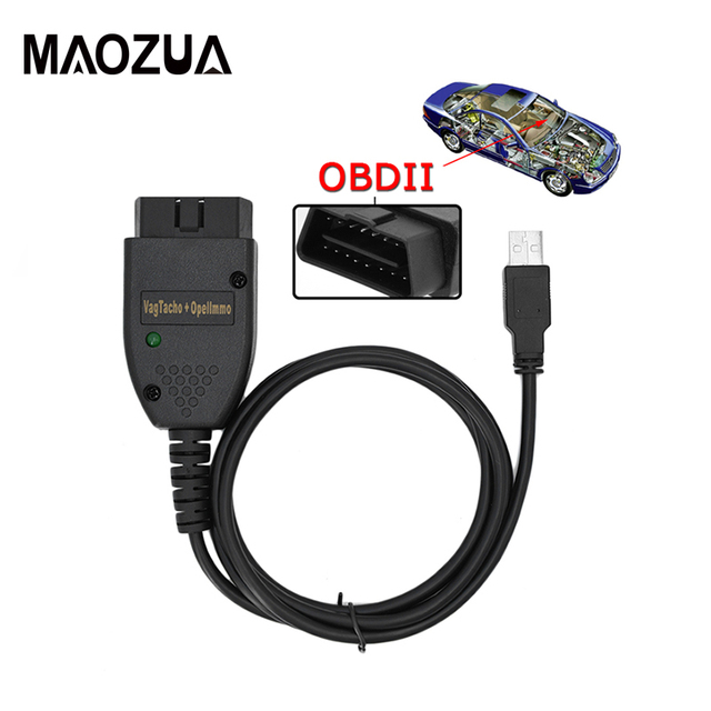 Flash Promo VAG TACHO 3.01+ Adapter for Opel Immo Reader Interface Auto Diagnostic Tool OBDII Code Scanner Cable