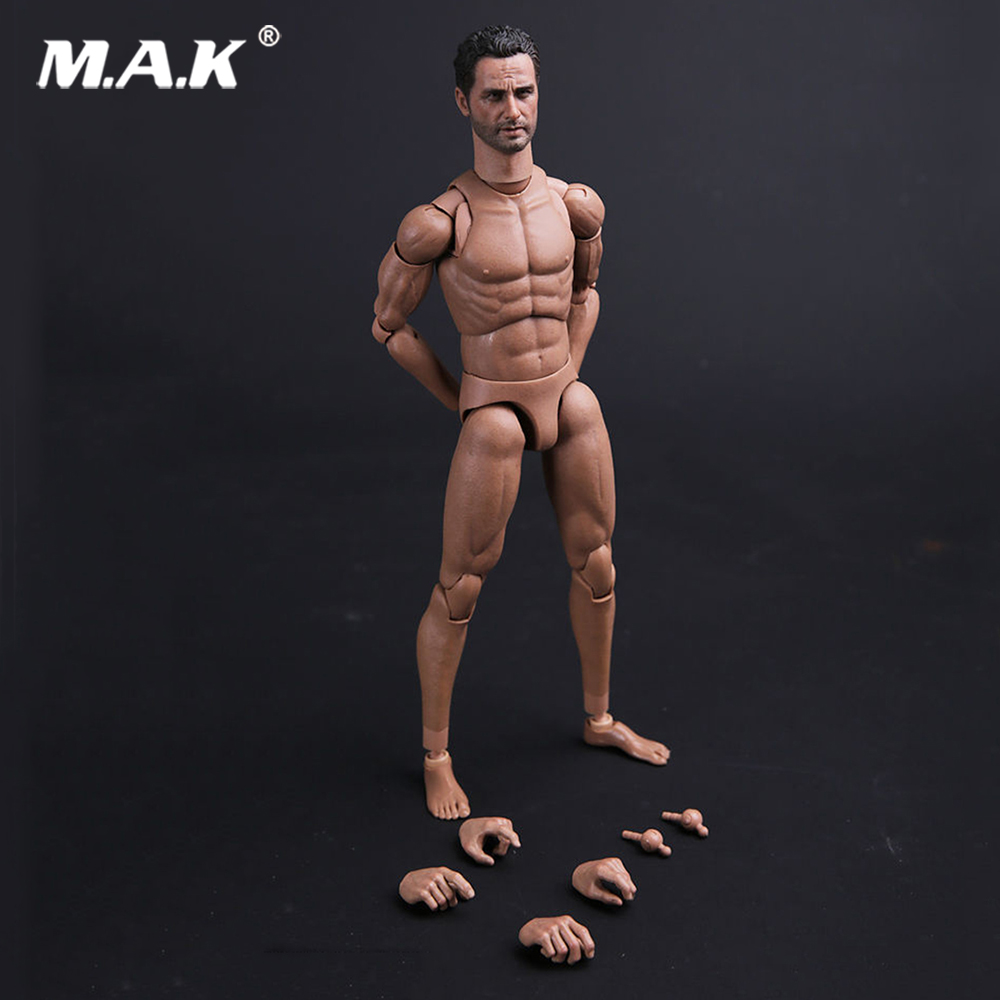 Rick Walking dead MALE01 1:6 Scale Movable Male Muscular Figure Body Narrow Shoulders for 12 inches Action Figure WIth head body 1 6 scale figure doll muscular body for 12 action figure doll accessories europe strong muscles or asia muscular body