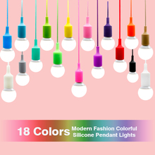 Modern Pendant ceiling Lamp shade Colorful Silicone LED Pendant Light fixture bulb E27 Design home lighting wedding decoration