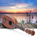 "High Quality 21"" Ukulele Pineapple-shaped Soprano Ukulele Durable Sapele Ukelele Matte 4 Nylon Strings Rosewood Fingerboard"