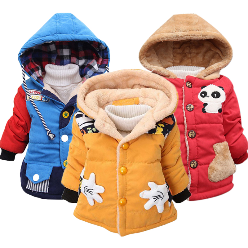 Baby Girls Jackets 2019 Autumn Winter Jackets For Boys Jacket Kids Warm Hooded Outerwear Coats For Boys Clothes Children Jacket