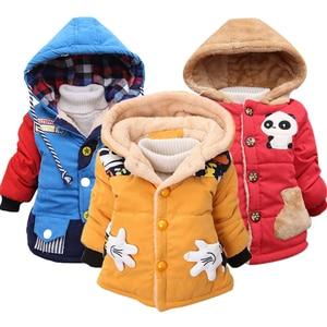 Image 1 - Bébé filles vestes 2020 automne hiver vestes pour garçons veste enfants chaud vêtements dextérieur à capuche manteaux pour garçons vêtements enfants veste