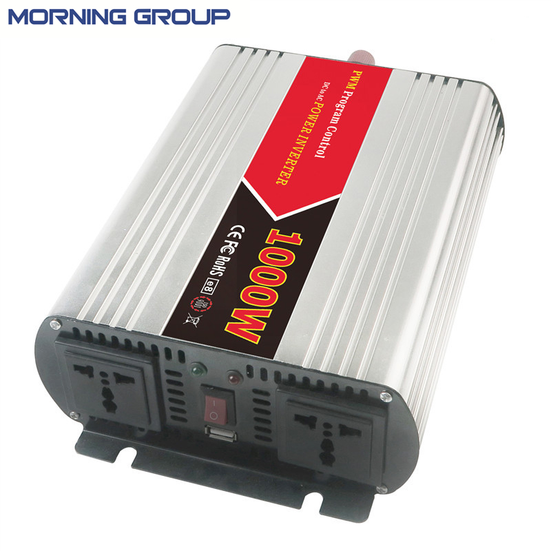 W1000 PWM Control Off Grid AC110-120V 220-240V DC 12V 24V Inverter 1000W With USB Interface delta afb1212hhe 12038 12cm 120 120 38mm 4 line pwm intelligent temperature control 12v 0 7a