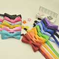 Free Shipping 1pc New Brand Children's Colorful Fashion Kid Bow Tie Dots Bowtie Boys Girls Candy Butterfly Wedding Party Gravata