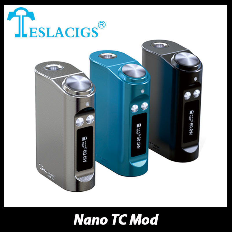 Original 60W Tesla Nano TC Mod Battery 3600mAh Built in Lipo Battery font b Electronic b