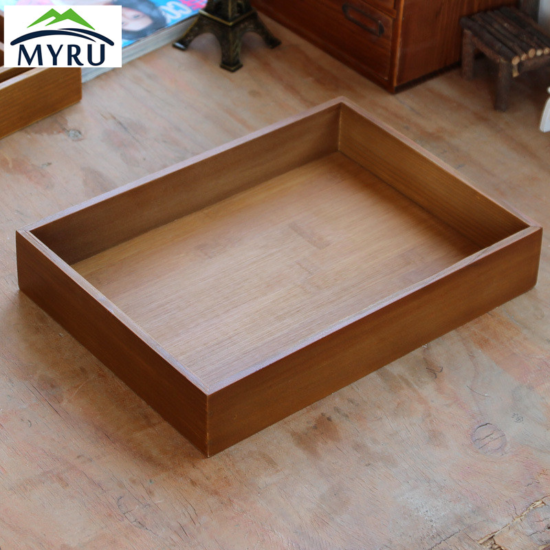 High Quality Wooden and Bamboo Storage Tray Household Hotel Restaurant Dish Tray Fruits Tray