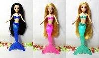 Moda crianças sereia bonecas toys natação luminescente sereia princesa boneca bonecas menina toys para presentes de aniversário caixa withno