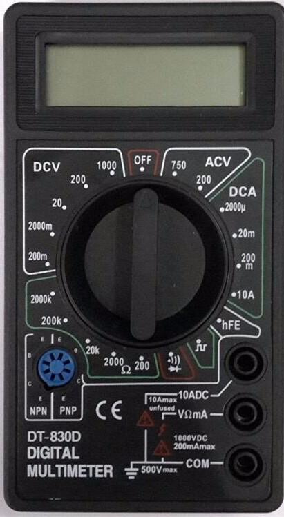 100pcs by dhl fedex Digital Multimeter AC DC Buzzer Voltmeter Ammeter Voltage Ampere Meter DT830D Tester with  Leads  LCD probe 1