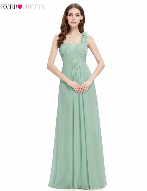 Clearance Sale 2017 New Elegant One Shoulder Bridesmaid Dresses Ever Pretty HE09768 Women Floor
