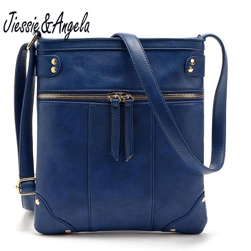 Fashion women leather messenger bags double zipper vintage style women bags handbag bolsa feminina casual shoulder bags