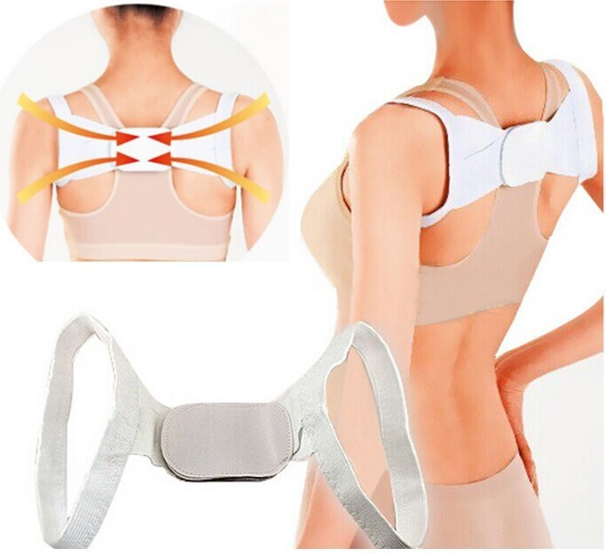 Adjustable Therapy Back Support Brace Belt Band Posture Shoulder Corrector Men Women Back Corrector Young Brace Shoulder Belt