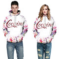 2017 spring new arrived famous brand hot sale plus size S-3XL mens women fashion 3D cocaine flowers hoodies and sweatshirts