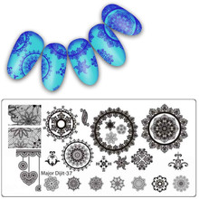 New 10 Styles Nail Art Template 1PC Fashion DIY Nail Art Image Stamp Stamping Plates Manicure