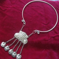 Miao Xiang Dong Village Handmade Miao Silver Personality Jewelry Collar Necklace Butterfly Silver Collar