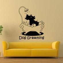 Dog Grooming Wall Sticker Pet Salon Decal Vinyl Pets Shop Mural Art Interior Decor RL02