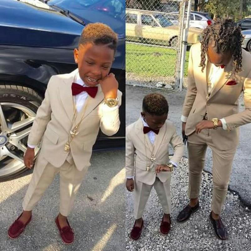 Ring Bearer Boy's Formal Wear Tuxedos Shawl Lapel One Button Children Clothing For Wedding Party Kids Suit Boy Set (Jacket+Pants