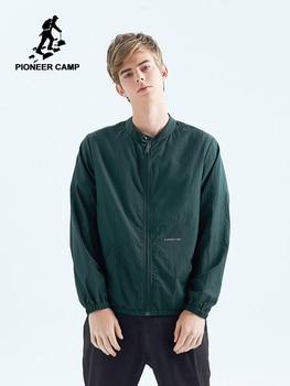 Pioneer Camp Thin Men Jacket Sun Protection Jacket Skin Nurse Youth Long Sleeve Cardigan Zipper Male Jacket Summer AJK901195
