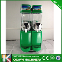 Зеленый двойной бак слякоть машина Мороженое maker таяния снега машина коммерческих смузи гранита машина льда слушер