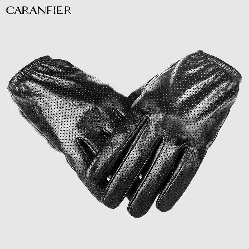 12dbc5137b17 Guantes de cuero genuino para hombre, guantes de piel de oveja para  invierno, guantes de malla respirable para hombre