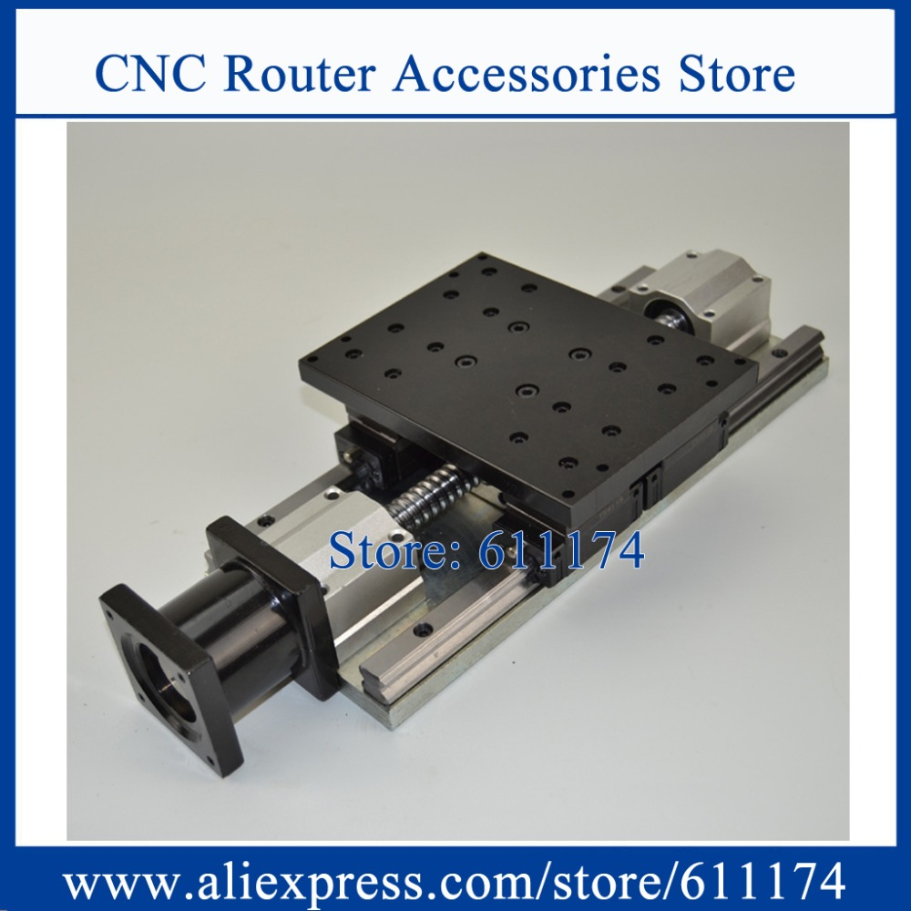 High Precision CNC Sliding Table, Effective Stroke 200mm Guide Rail 15mm Ball Screw 1605 CNC Z Axis Linear Motion Sliding Table