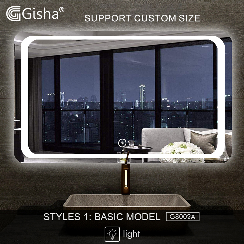Orderly Gisha Smart Mirror Led Bathroom Mirror Wall Bathroom Mirror Bathroom Toilet Anti-fog Mirror With Bluetooth Touch Screen G8002 Relieving Rheumatism And Cold Bathroom Fixtures Bath Mirrors
