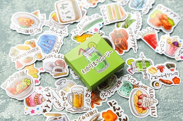 40PCS-box-Color-Cute-Marble-Paper-Sticker-Decoration-Decal-DIY-Album-Scrapbooking-Seal-Sticker-Stationery-Gift(11)