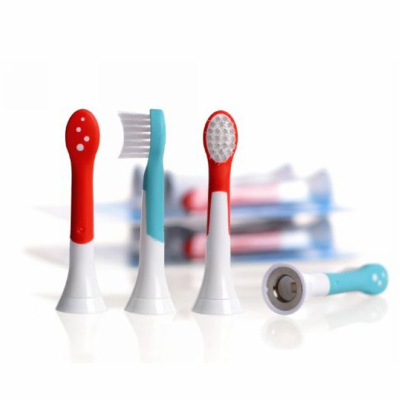 New 4pcs HX6034 Generic Electric Sonic Replacement Brush Heads Fits For Philips Sonicare Toothbrush Heads Kids Soft Bristles 4pcs electric sonic replacement tooth brush heads for philips sonicare toothbrush heads dual soft bristles sensiflex hx2014