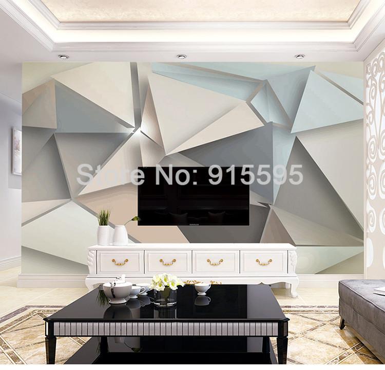 Custom Photo Wall Paper 3D Modern TV Background Abstract Art Wall Mural (1 ㎡)