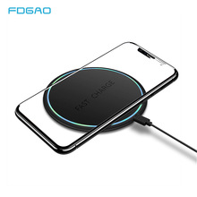 FDGAO 10W Fast Qi Wireless Charger For iPhone X XS Max XR 8 Plus USB Quick Charging Pad for Samsung S8/S8+ S9/S9+ S10