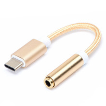 EGRINCY USB Type C To 3.5mm Adapter Cable Headphone Earphone Jack Aux USB 3.1 Cable For Letv 2 Leeco Le Max 2 Pro 3 Mi Xiaomi 6