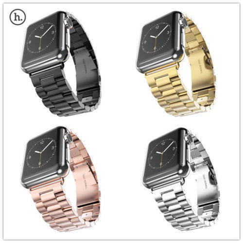 Hoco Stainless Steel Band Strap For Apple Watch Iwatch Silver Black