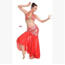 Free-shipping Belly Dance Wears for Stage Show Dancing nice design Top&Skirt set dress for all Dancers hot-selling