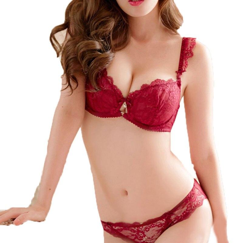 size 7 new specials new design € 7.35 27% de réduction|Sous vêtement de marque femmes Sexy soutien gorge  ensemble Ultra mince rouge dentelle soutien gorge bref ensembles grande ...
