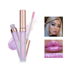NEW 1 Pcs Liquid Glitter Lip Glaze Holographic Mermaid Pigment Lipstick Plumper