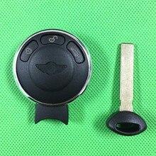 1 шт./лот 3 Кнопки Замена Смарт Дело Дистанционное Ключевые Shell Для BMW Mini COOPER Smart Key Shell С Вставить Лезвие