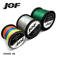 JOF Brand Series 1000M PE Braided Fishing Line 8 Strands 22LB 78LB Multifilament Fishing Line