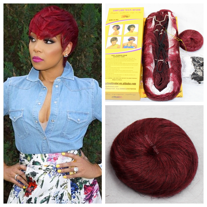 Authentic 27 Pcs Virgin Human Hair Weave 39j Red And 99j