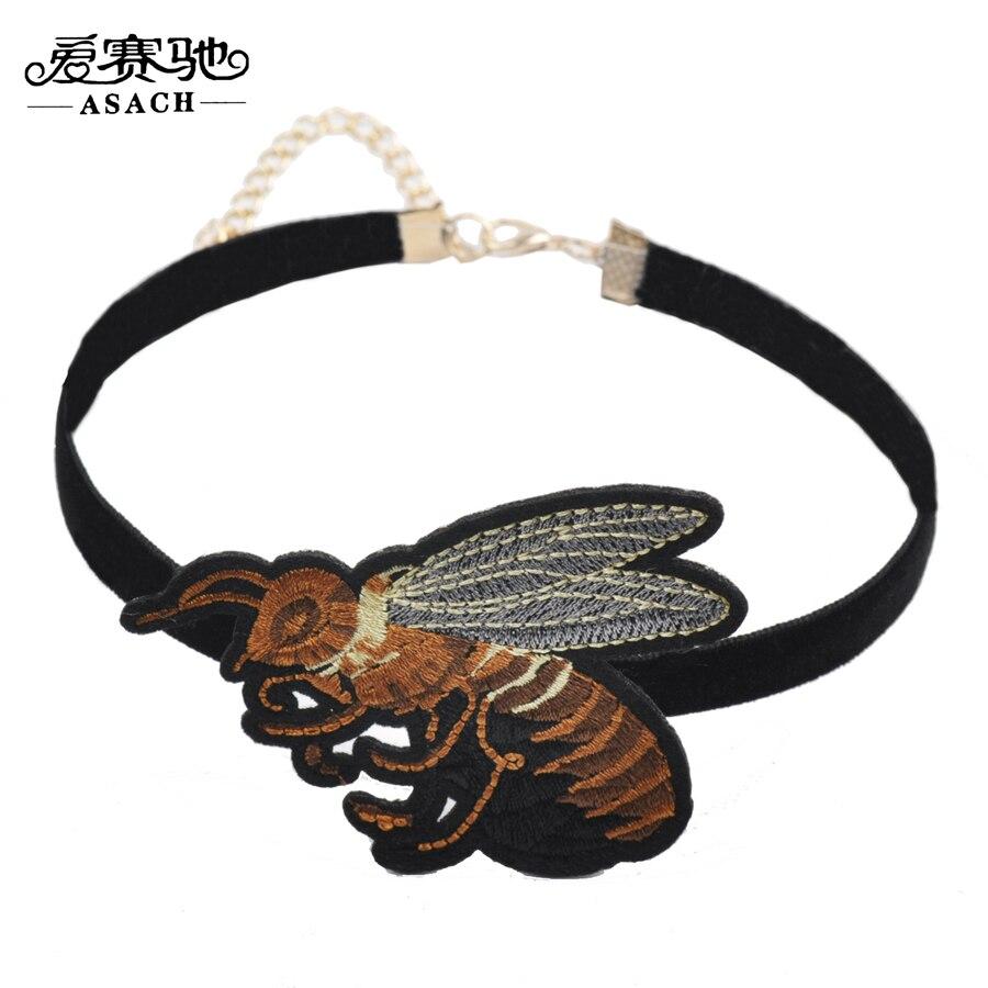 ASACH Moda Insecto Lindo Abejorro Bordado Gargantillas Collares Para ...