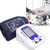 JIZIK Digital Upper Arm Blood Pressure Pulse Health Care Meter Tonometer Automatic Heart Beat Meter Machine