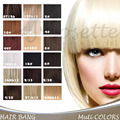 New Available Synthetic Short Neat Clip in Clip on Hair Bang Fringe Hair Extension Hair Piece