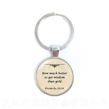 I'm A warrior I'm Stronger Than I've Ever BeenProverbs Keychains Gift For Student Friends Motivating People Famous Aphorism image