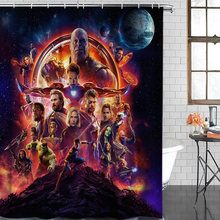 Waterproof Shower Curtain Movie Endgame Theme Spiderman Hulk Crimson Witch Polyester Farbic Bathroom Shower Curtains with Hooks(China)